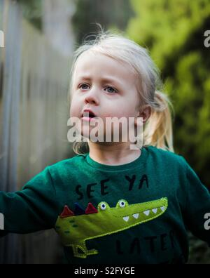 L'enfant errant Photo Stock