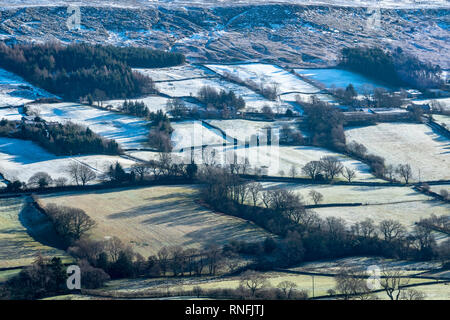 Danbydale, North York Moors National Park, l'hiver Photo Stock