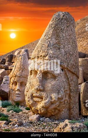 Tête de Zeus, le Mont Nemrut, Parc National, Turquie Photo Stock