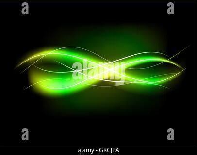 Résumé floue fond effet de lumière bordée vert Photo Stock