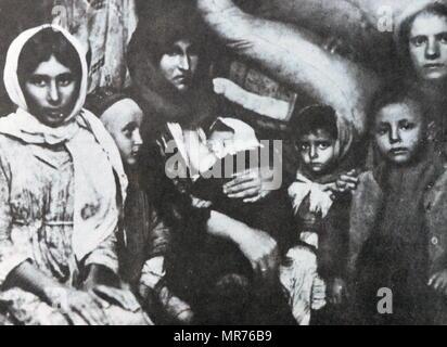 Les juifs quitter la Russie pour la Palestine 1921 Photo Stock