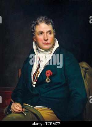 Studio de Georges Rouget, Jacques Louis David, portrait, vers 1813 Photo Stock