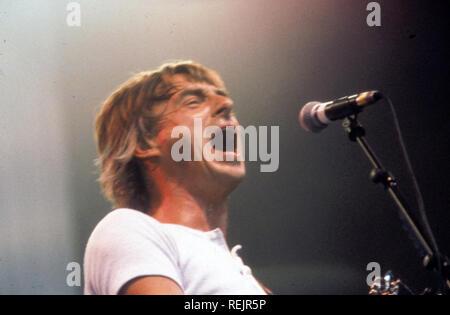 Musicien de rock anglais paul Weller sur 1977 Photo Stock