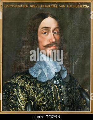 Portrait du Comte Johan Axelsson Oxenstierna (1611-1657). On trouve dans la collection de Skokloster Castle. Photo Stock