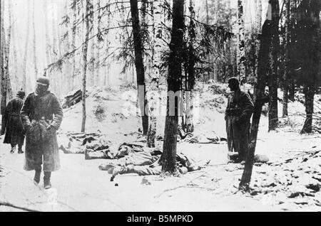 9 1916 318 A1 15 E Bataille de Postawy Ger 1916 1 Guerre mondiale position Front de l'est la défaite des Photo Stock