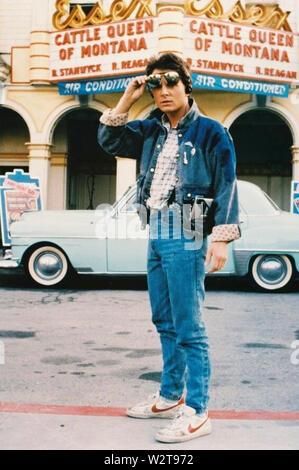 Retour VERS LE FUTUR 1985 Universal Pictures film avec Michael J. Fox Photo Stock