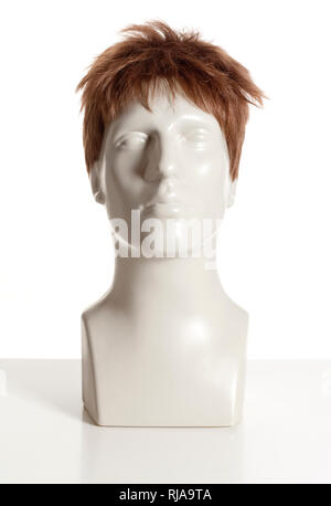 Mannequin Homme Chef avec perruque on White Photo Stock