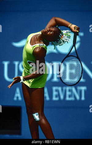 Venus Williams (USA) de la compétition à l'US 1998 OpenTennis championnat. Photo Stock