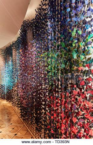 L'installation par Olivero Bland Studio/ Zyle pour le Guatemala. Design Biennale 2018 de Londres, Londres, Royaume-Uni. Architecte: Divers , 2019. Photo Stock