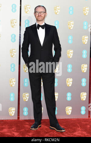 Londres, Royaume-Uni. 10 fév, 2019. Londres, Royaume-Uni. 10 février 2019 : Mark Gatiss arrivant pour le BAFTA Film Awards 2019 au Royal Albert Hall, Londres. Photo : Steve Sav/Featureflash Crédit : Paul Smith/Alamy Live News Photo Stock