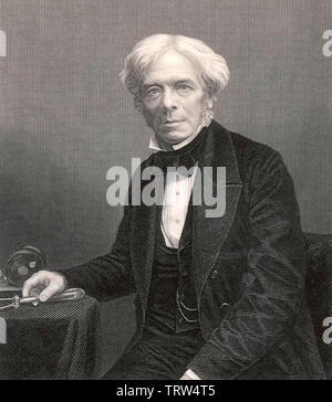 MICHAEL FARADAY (1791-1867) scientifique anglais Photo Stock