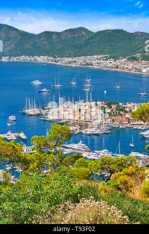Vieille ville et du port de Marmaris, Turquie Photo Stock