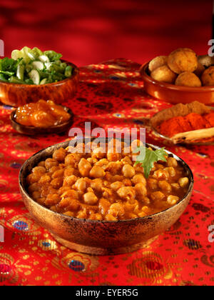 Pois chiches INDIENNE CHOLE Photo Stock