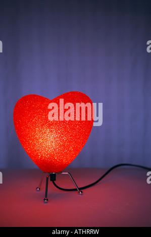 Lampe en forme de coeur Photo Stock