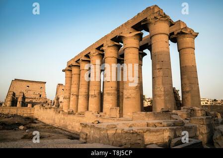 Le Temple de Luxor, Luxor, Egypte Photo Stock