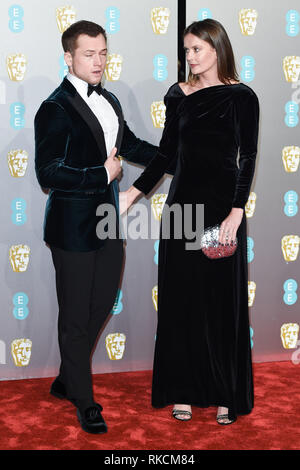 Londres, Royaume-Uni. 10 fév, 2019. Londres, Royaume-Uni. 10 février 2019 : pour l'arrivée Eggerton Tarron BAFTA Film Awards 2019 au Royal Albert Hall, Londres. Photo : Steve Sav/Featureflash Crédit : Paul Smith/Alamy Live News Photo Stock