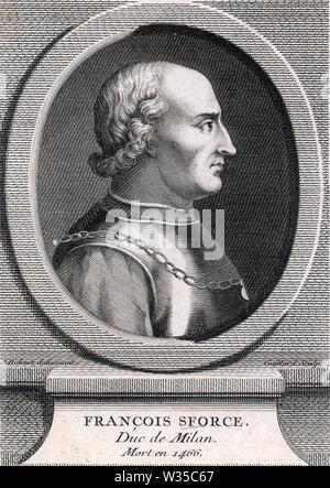 FRANCESCO SFORZA (1401-1466), condottiere italien leader militaire Photo Stock