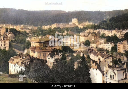 Bâtiments de Mariánské Lázně, églises à Mariánské Lázně, 1912, Région de Karlovy Vary, Marianske Lazne, République Tchèque Photo Stock