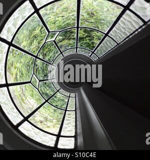 Résumé de la fenêtre éclairé plomb Photo Stock