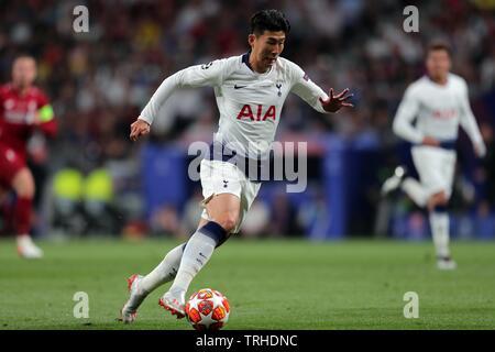 Fils Heung-MIN, Tottenham Hotspur FC, 2019 Photo Stock