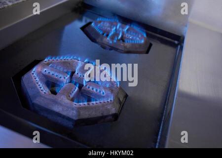 Brûleur cuisinière au gaz naturel Photo Stock