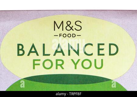 M&S Food équilibré pour vous Photo Stock