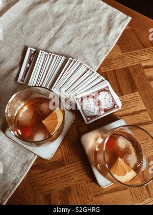 Nuit de poker Photo Stock