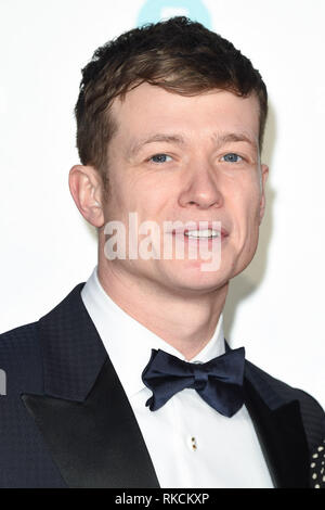 Londres, Royaume-Uni. 10 fév, 2019. Londres, Royaume-Uni. 10 février 2019 : Ed Speelers arrivant pour le BAFTA Film Awards 2019 au Royal Albert Hall, Londres. Photo : Steve Sav/Featureflash Crédit : Paul Smith/Alamy Live News Photo Stock