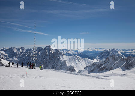 Géographie / voyage, Allemagne, Berlin, Zugspitze (crête), plateau, Zugspitze Alpes panorama, Additional Photo Stock