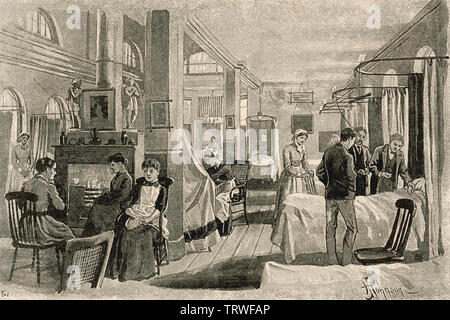 GUY'S HOSPITAL de Londres un, Southwark,vers 1870 Photo Stock