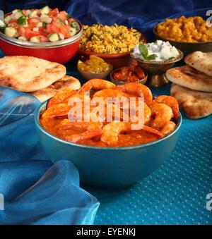 GOAN curry de crevettes Crevettes Photo Stock