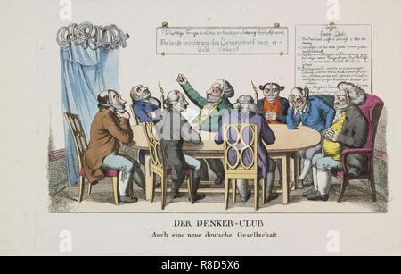 Les penseurs Club, ca 1820. Collection privée. Photo Stock