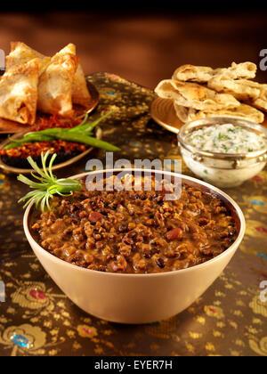 Lentilles INDIENNES MAKANI DAL Photo Stock