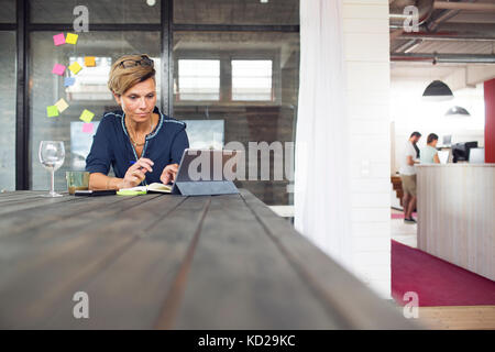 Woman using laptop Photo Stock