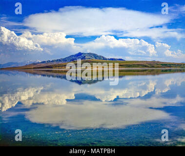 Grand Lac Salé Refections, Antelope Island State Park, Utah plus grand islandi n Grand Lac Salé Photo Stock