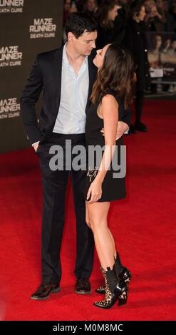 Londres, Royaume-Uni. 22 janvier, 2018. Benjamin Walker et Kaya Scodelario assiste à la 'Maze Runner: Photo Stock