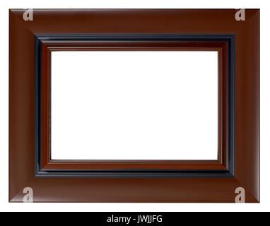 Cadre Photo en bois brun Photo Stock