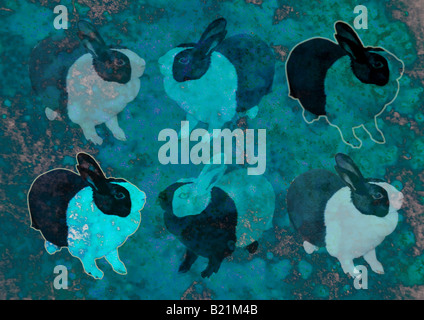 Illustration de lapins Photo Stock