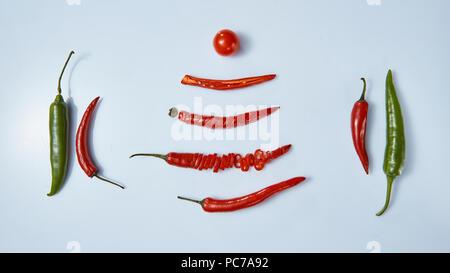 piment, pepperoni Photo Stock