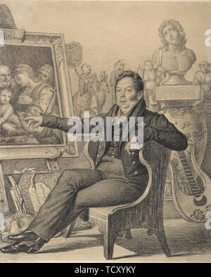 Portrait du Comte Nikita Ivanovitch Dondukov-Korsakov (1776-1857), 1821. On trouve dans la Collection de la Galerie nationale Tretiakov (Moscou). Photo Stock