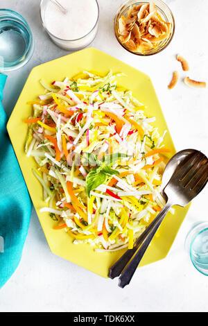 Salade de légumes à la noix de coco Photo Stock