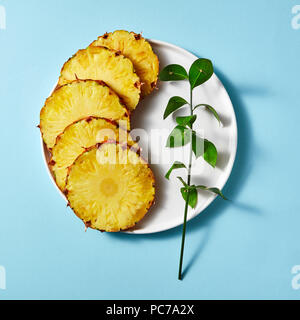 tranche d'ananas Photo Stock