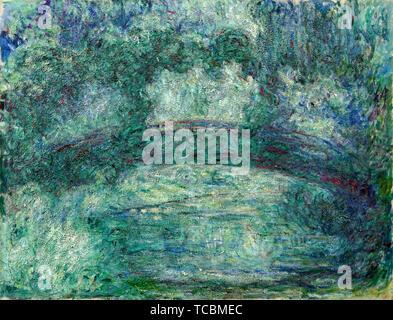 Claude Monet, le pont japonais, peinture, vers 1919 Photo Stock