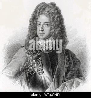 JAMES FRANCIS EDWARD Stuart (1688-1766) surnommé le vieux prétendant à la couronne britannique Photo Stock