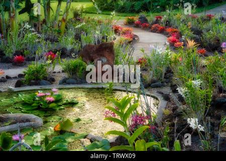 Jardins de .Kiahuna Plantation Gardens. Poipu, Kauai, Hawaï. Photo Stock