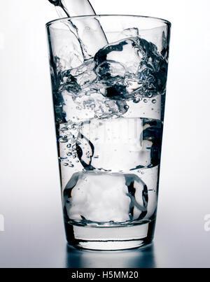 eau glacée Photo Stock