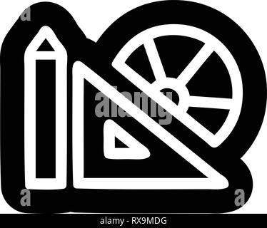 Matériel mathématiques symbole icône Photo Stock