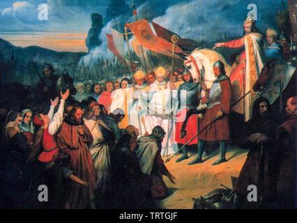 Charlemagne à Paderborn, peinture, 1835 Photo Stock