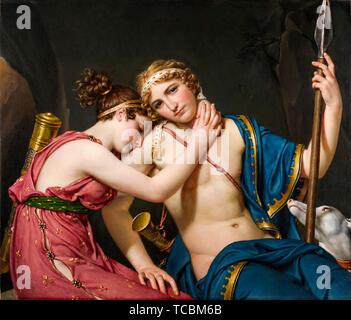Jacques Louis David, les adieux de Télémaque et d'Eucharis, peinture, 1818 Photo Stock