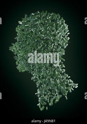 Les bactéries formant un corps humain - microbiome et probiotiques concept 3D illustration. Photo Stock